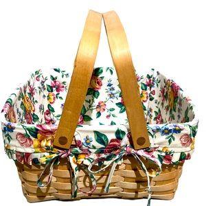 Longaberger two handle picket style basket